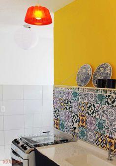 Gastando menos na decoração da casa - dcoracao.com - blog de decoração. Adorei a luminária de forma de nolo.