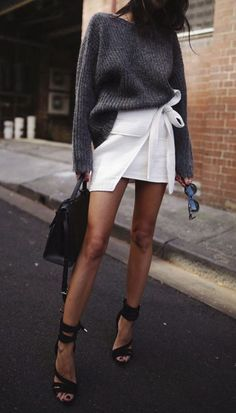 white miniskirt - leg goals