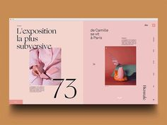Contemporary magazine layout design full of millennial pink and beautiful typography Web Design Trends, Design Web, Layout Design, Design Sites, Minimal Web Design, Print Layout, Web Layout, Flat Design, Website Design Inspiration
