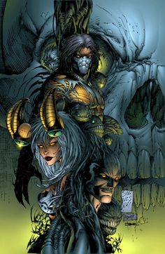 The darkness vs the Angelus Comic Book Artists, Comic Book Characters, Comic Artist, Comic Character, Comic Books Art, Michael Turner, Marvel Comics, Marvel E Dc, Anime Comics