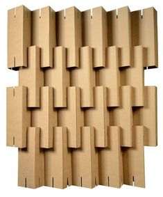 Prism partition - Cartone Design Concept Models Architecture, Paper Architecture, Acoustic Wall, Acoustic Panels, Cardboard Sculpture, Cardboard Crafts, Box Patterns, Wall Patterns, Paper Tower