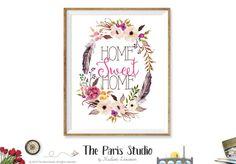 Printable Digital Art Print: Home Sweet Home
