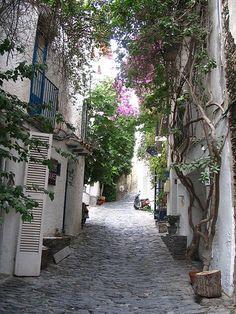 Cadaques street, Costa Brava. Catalonia