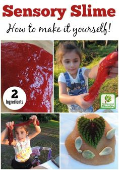 Make this easy flubber type sensory slime for children's play. Only 2 ingredients and safe for smaller children. A simple play resource for parents, carers and early childhood educators and teachers.