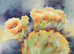 Pricklies Full of Sunshine by Yvonne Joyner, Watercolor