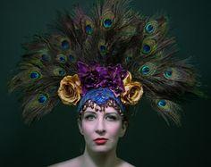Popular items for peacock headdress on Etsy