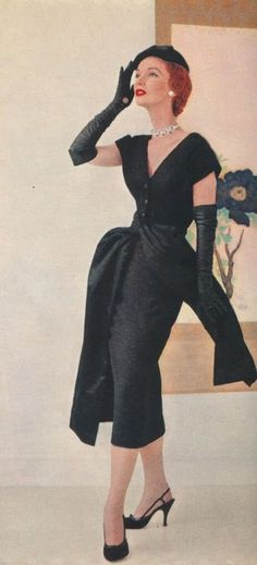 1950s LBD with over-skirt