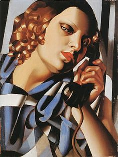 The Telephone II, 1930  Tamara de Lempicka
