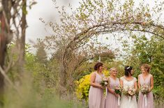 Pretty soft lilac bridesmaids dresses | Paul and Ann's pretty barn wedding at Larchfield | www.onefabday.com