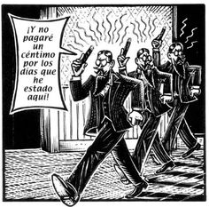 """From the comic adaptation of Franz Kafka' s """"Metamorphosis"""" by artist Peter Kuper(this one is from the spanish edition)"""