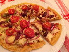 pizza sem glúten de frigideira
