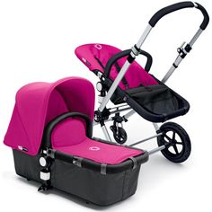 Bugaboo Cameleon Grey Stroller with Pink Fabric from PoshTots