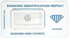 Foto 1, Diamant 1,21ct Gutachten HRD Wesselton SI VG/VG Diamond, D5456