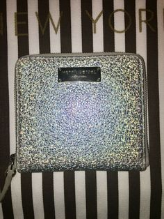 2d0289c4 Details about NEW Henri Bendel Large Centennial Continental Wallet Brown  White Stripe Leather