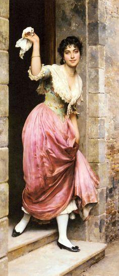The Farewell - Eugene De Blaas (Italian, 1843-1932)