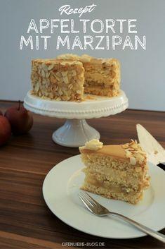 Apfeltorte mit Marzipan - herbstlich-frische Leckerei!