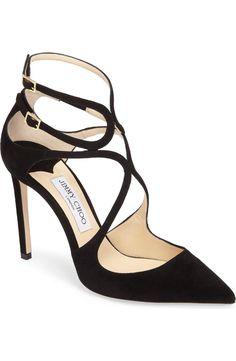 JIMMY CHOO Lancer Strappy Pump (Black) #weddingshoes