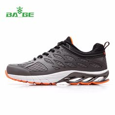 Bage Men's Cushioning Running Shoes Rubber Sole Shock  Absorption Outdoor Jogging Sneakers Male Breathable Training Sports Shoes #Affiliate
