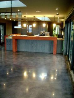 kitchen with stained concrete floor - Google Search