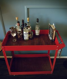 Stash your booze in style with this cheap, easy, and classy bar cart.