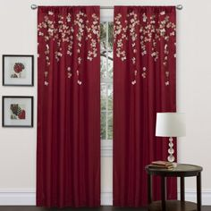 Lush Decor Flower Drop Curtain Panel, Red Lush Decor curtains. Home design ideas (affiliate link)