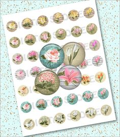 Digital Collage Sheet FLORAL CIRCLE VINTAGE 1 by DigitalStories, €2.60
