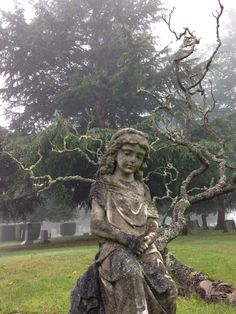 Cemetery Angels, Cemetery Statues, Cemetery Art, Graven Images, Stone Statues, Historical Monuments, Mount Pleasant, Graveyards, Grief