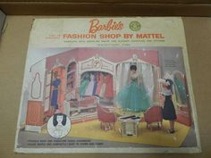 Vintage Barbie Fashion Shop Never Removed From Box! Unopened! 1963 VERY RARE!