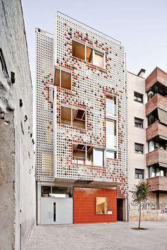 *세라믹 블록 판넬 [ Lagula Architects-A Facade Of Colorful Ceramic Blocks :: 5osA: [오사]