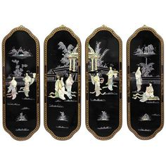 Eight Ladies Curved Wall Plaques, Width - 12 Inches