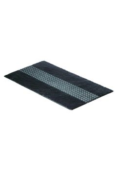 Add a touch of character and elegance to your dining table with our deco slate table runner. This stunning geometric patterned table runner will provide focus for any table center and is ideal for hot sharing plates, candles and condiments alike. Hand wash only.    Measures: 50cm x 25cm   Slate Table Runner by Just Slate. Home & Gifts - Home Decor - Dining Rehoboth Beach, Delaware