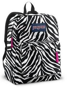 Pink Zebra Jansport Backpack for girls | Products I Love ...