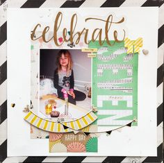 My girl turned seven and here she is getting breakfast in bed.. Crate Paper / Maggie Holmes - Confetti