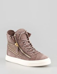 GIUSEPPE ZANOTTI High-Top Crystal-Panel Sneaker
