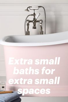 Small but stylish bath tubs for small but stylish bathrooms @thealbionbathco Small Bathtub, Small Bathroom, Tiny Bathrooms, Classic Interior, Bath Tubs, Small Spaces, Design Ideas, Interior Design, Stylish