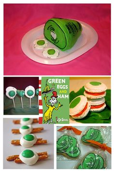 """pretzel and """"egg"""" for green eggs and ham (not showing in pin)"""