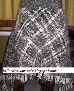 falda 4 cuadrados Online Tests, Making Tools, Weaving Techniques, Lana, Knitting, Crafts, Handmade, Fashion, Weaving
