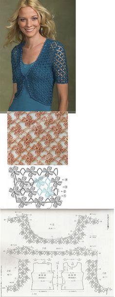 flowery crochet cardi! pretty!!