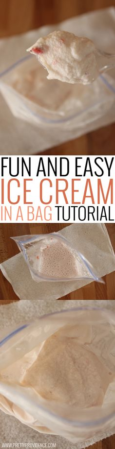 Fun and easy ice cream in a bag recipes and tutorial! Such a perfect summer family activity! (Summer Bake With Kids)