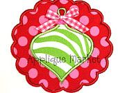 Machine Embroidery Design Applique Scallop Ornament