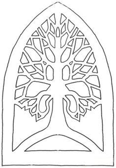 Tree; Paper cut template.