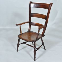 "19th century High Back Chair - High Wycombe - circa 1840 Width: 23.5"" / 60 cm Depth: 17"" / 43 cm Height: 42"" / 107 cm"