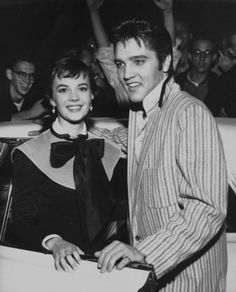 Natalie Wood and Elvis on a publicity date in 1956.