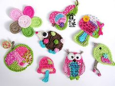 Repeat Crafter Me: E is for Elephant: Crochet Elephant Applique Appliques Au Crochet, Crochet Motif, Crochet Designs, Crochet Stitches, Crochet Amigurumi, Crochet Toys, Knit Crochet, Crochet Animals, Crochet Crafts