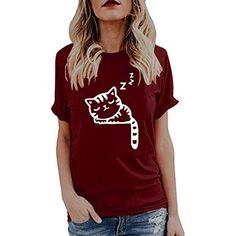 a39f48d54aeca Vetement Femme Pas Cher a la Mode Coton Tee T-Shirt à Manche Courte Femmes  Top Sweat Chemise Blanche ado Fille Vest Gilet  poloshirt  poloshirtherren  ...