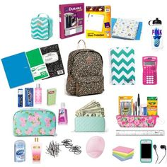 """What's in my backpack"" by ari-alvarez on Polyvore"