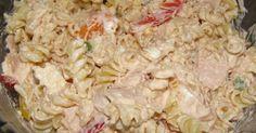 Εξαιρετική συνταγή για Δροσερή μακαρονοσαλάτα. Δροσερό, καλοκαιρινό πιάτο και για γέυμα τις ημέρες του καύσωνα, αλλά και για μπουφέ! Recipe by souel Pasta Recipes, Chicken Recipes, Cooking Recipes, Healthy Recipes, Finger Food Appetizers, Appetizer Recipes, Food Network Recipes, Food Processor Recipes, The Kitchen Food Network