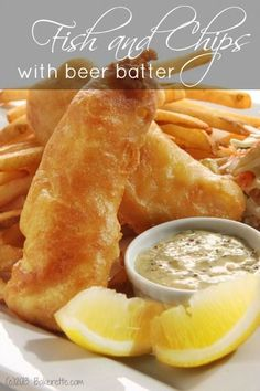 Fish and Chips with Beer Batter | Bakerette.com