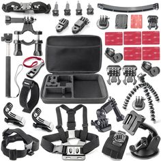 sport cam Accessories kits For Sony FDR-X1000V/W 4K Action Camera AS200V AS300V HDR-AS15/AS20/AS30V/AS100V/i