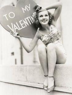 Joyce Matthews - 1939 - Vintage Hollywood Valentine's Day Pin-Up My Funny Valentine, Vintage Valentines, Valentine Photos, Valentine Ideas, Valentine Heart, Holiday Photos, Pic Monkey, Vintage Love, Vintage Beauty